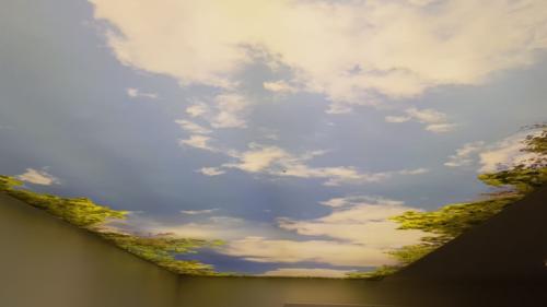 Bedruckte Decke Spanndecke Wolken